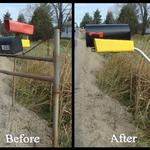 Remove dangerous mailbox supports that could leave you liable for damages to a third party.